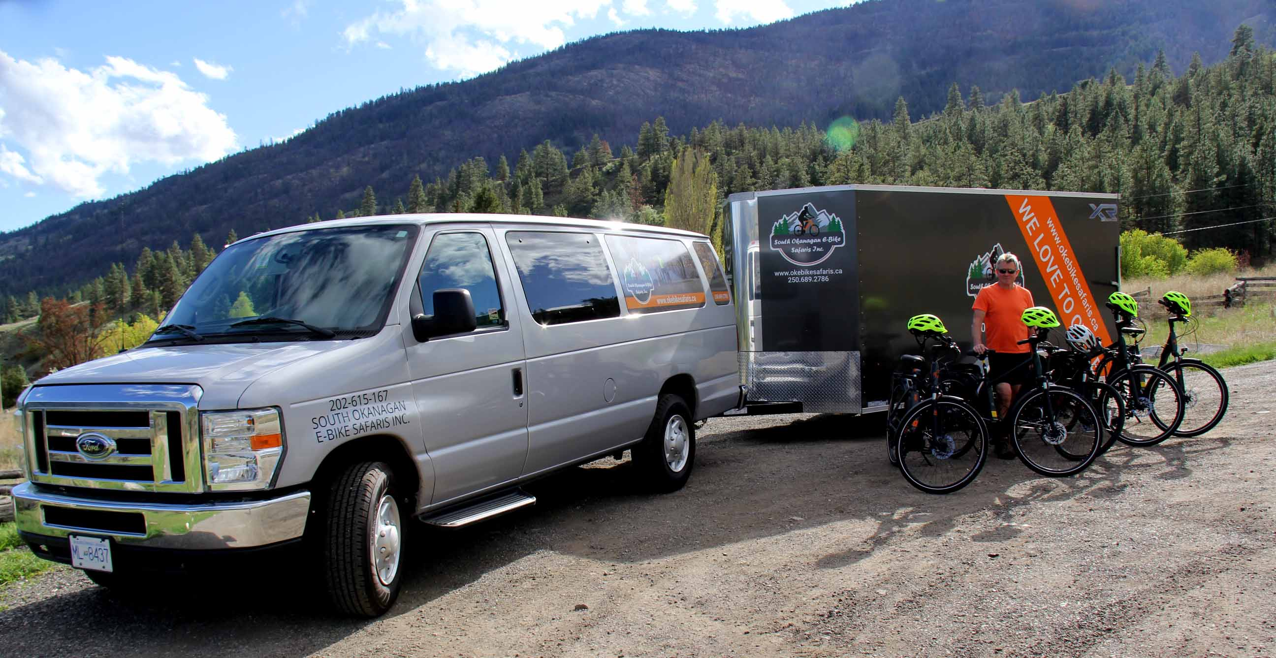 South Okanagan e-Bike tours - bike drop-off