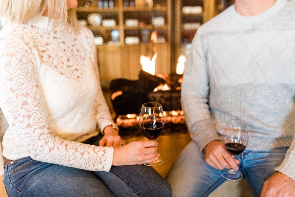 winter wine tasting